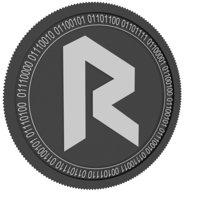revain black coin 3D model