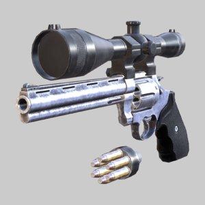 44 magnum - hd 3D model