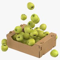 cardboard box 03 golden 3D