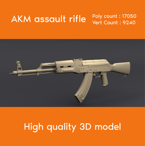 russian assault rifle akm model