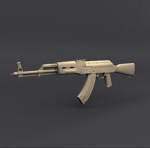 russian assault rifle akm model