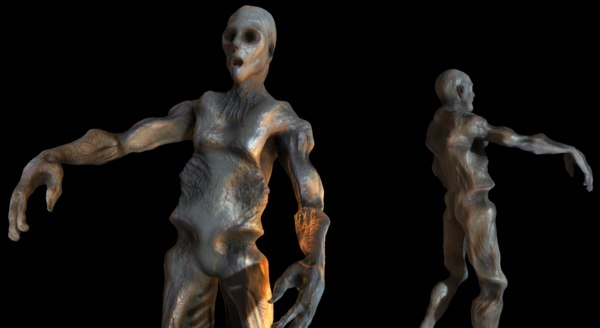 rigged zombie mutation 3D model
