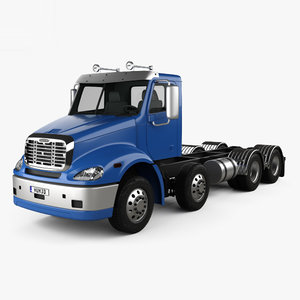 3D model freightliner columbia chassis