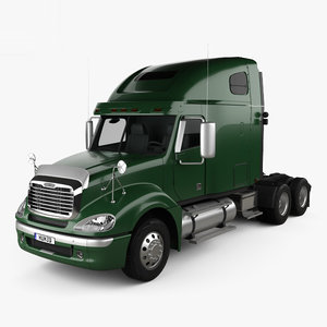 3D freightliner columbia sleeper model