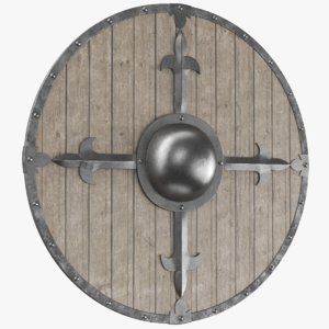 real medieval shield 3D model