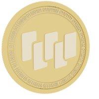 3D waltonchain gold coin