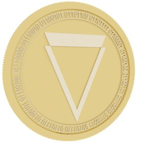 verge gold coin 3D model