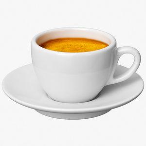 3D espresso coffee cup
