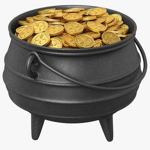3D pot gold