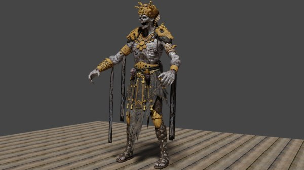 3D zombie character
