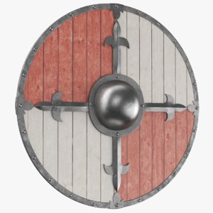 real medieval shield 3D