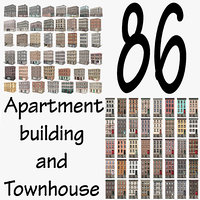 Apartment Building and Townhouse - 86 Models Collection