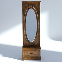 Victorian Hallway Mirror Old Natural