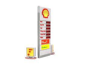 petrol station totem sign model