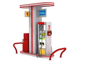 3D model petrol pump
