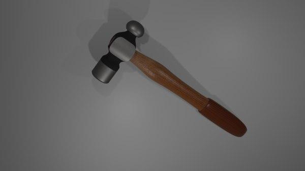 3D hammer created blender