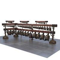 3D chimes model