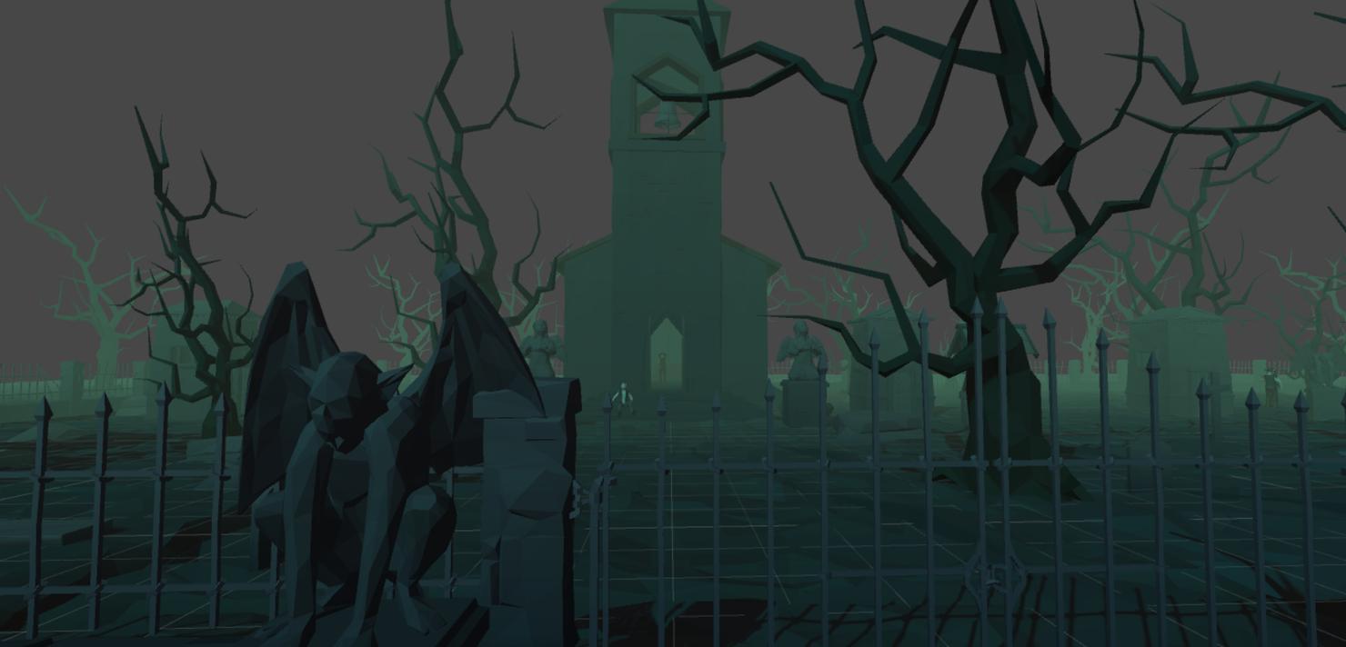 3D vr world - cemetery model