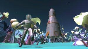 vr world - alien landscapes 3D model