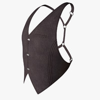 vest waistcoat fashion 3D model