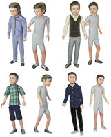 real cloths animation 3D model