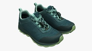 trekking shoes 3D model