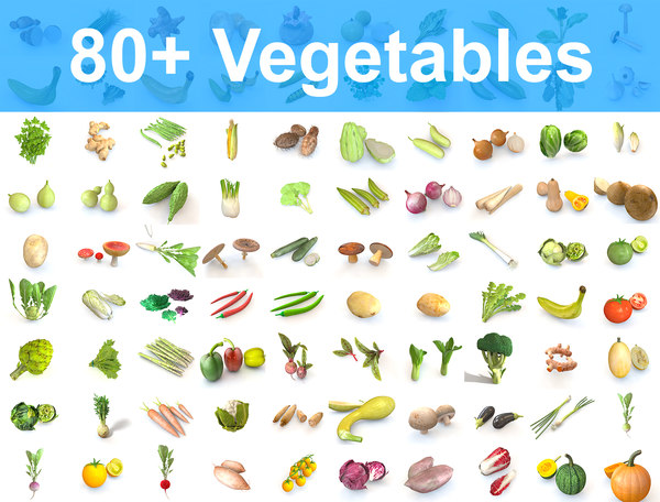 3D 80 mega vegetables model
