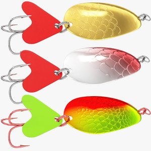 fishing spoons v1 3D