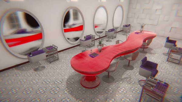 3D vr beauty salon -