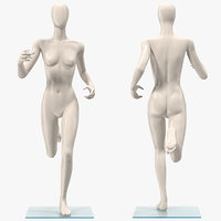 3D female mannequin rigged model