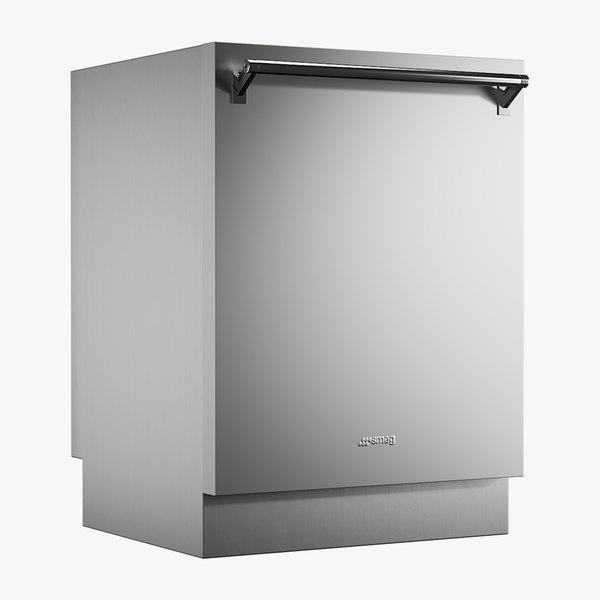 realistic dishwasher smeg model