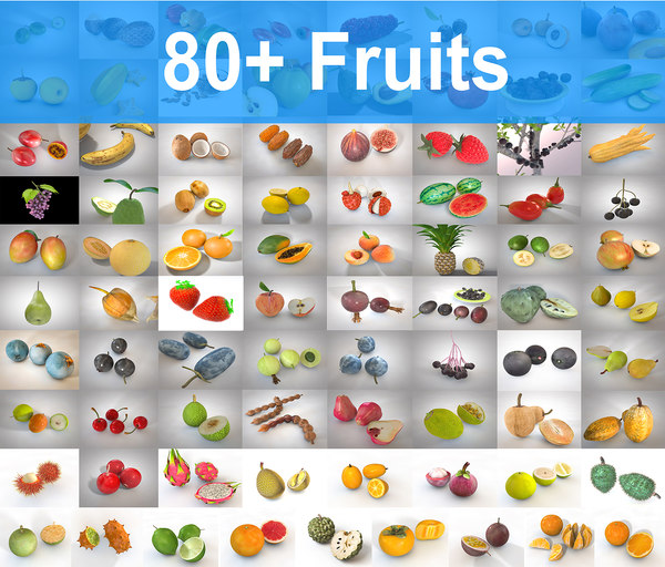fruits mega 80 3D model