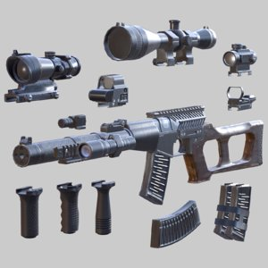 3D model vss sniper rifle -