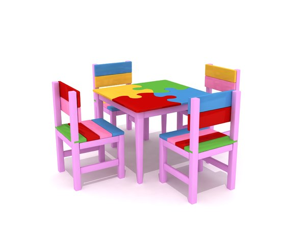 3D puzzle kid table