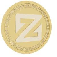 3D zcoin gold coin model