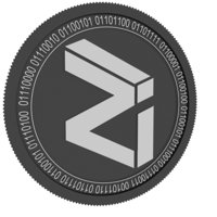 3D zilliqa black coin model