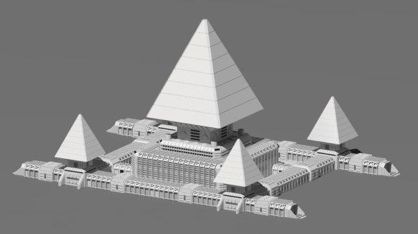 3D model sci fi base