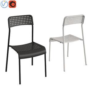black chair ikea adde 3D model