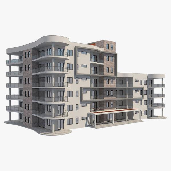 apartment building 6 3D model