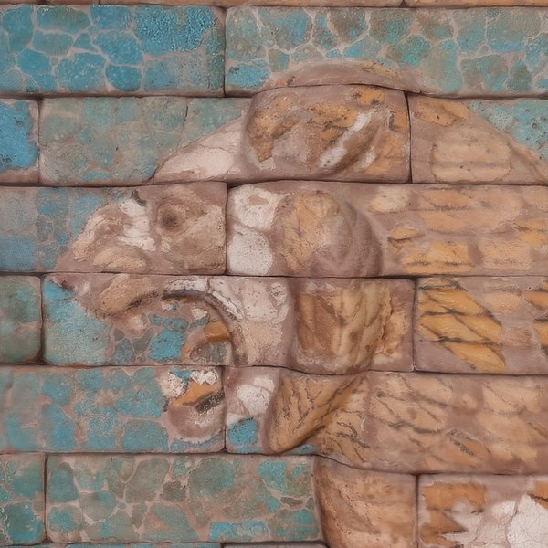 passing lion assyrian 3D