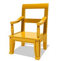 cartoon chair 3D model