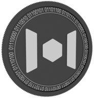 mixin black coin 3D model