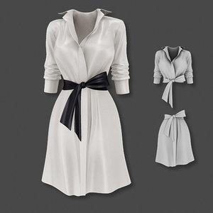dress belted shirt 3D model