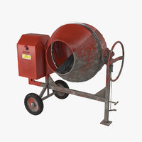 Cement Mixer Dirty and Clean