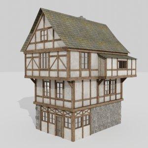 3D model medieval building house