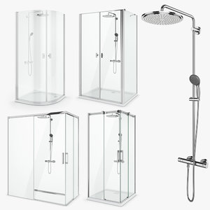3D model radaway shower set 50