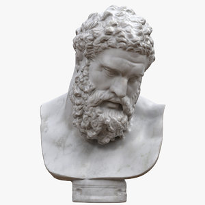 3D marble bust farnese hercules
