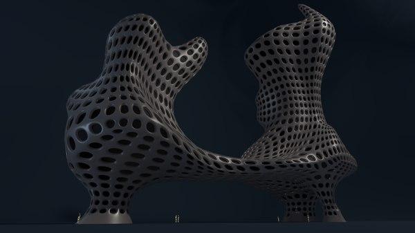 building dwelling architecture 3D model