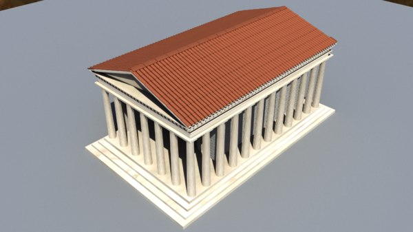 temple ancient 3d ma