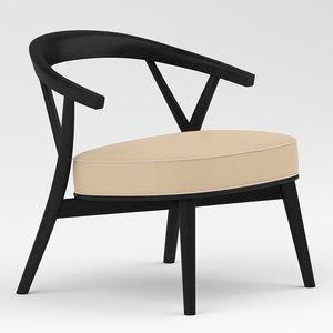 chair furniture cappellini 3D model